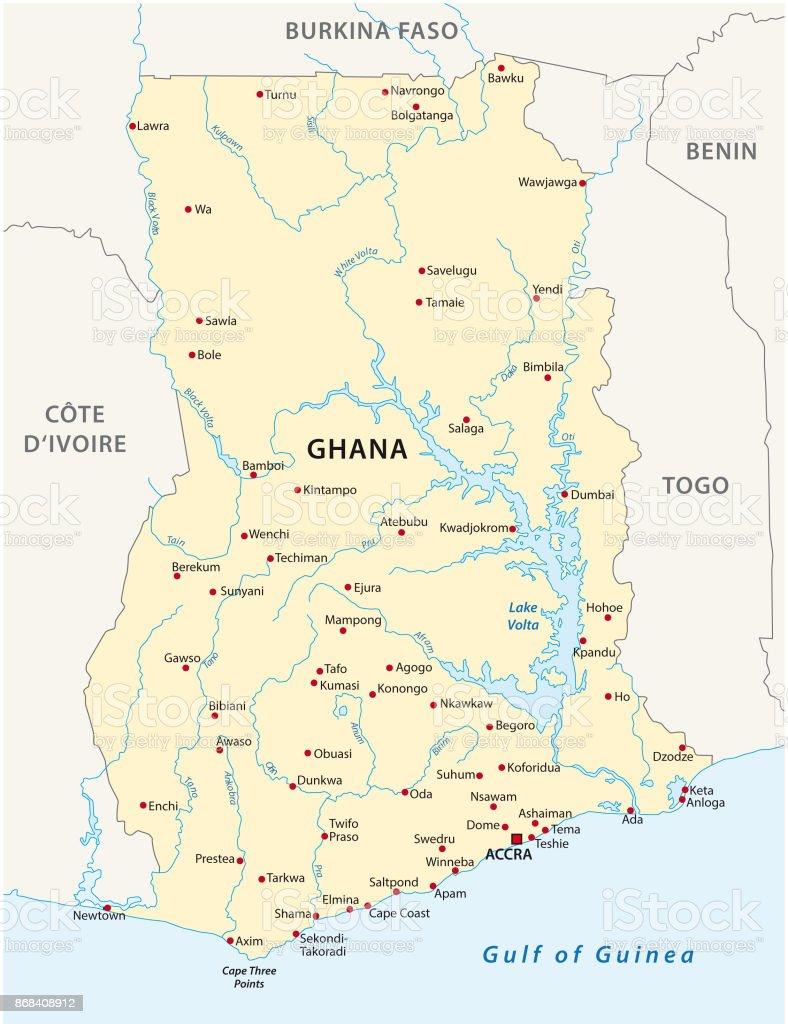 Ghana Karte.Ghana Karte Stock Vektor Art Und Mehr Bilder Von Accra Istock