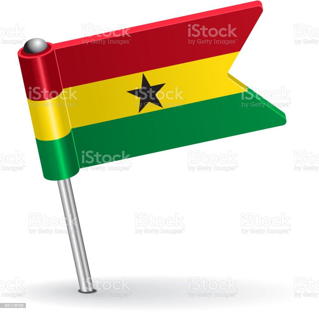 Icono bandera de Ghana. Ilustración vectorial - ilustración de arte vectorial