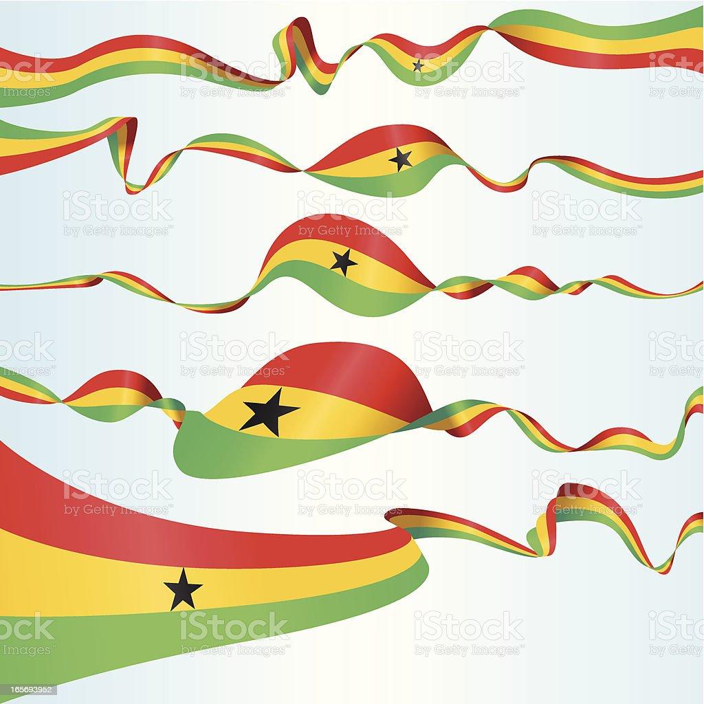 Ghanés Banners - ilustración de arte vectorial