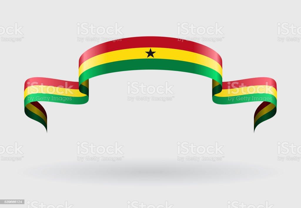 Ghanés fondo de bandera. Ilustración de vectores. - ilustración de arte vectorial