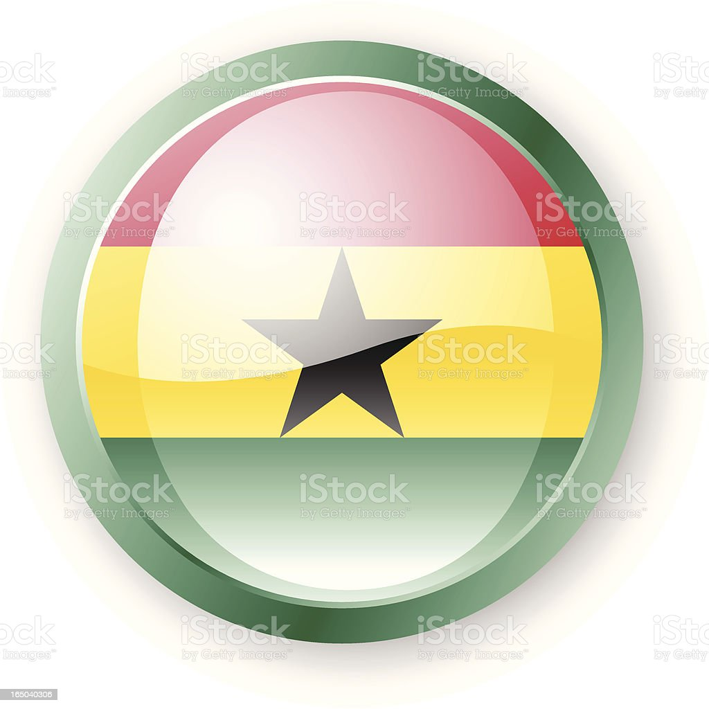 Ghanaian Flag Icon royalty-free stock vector art