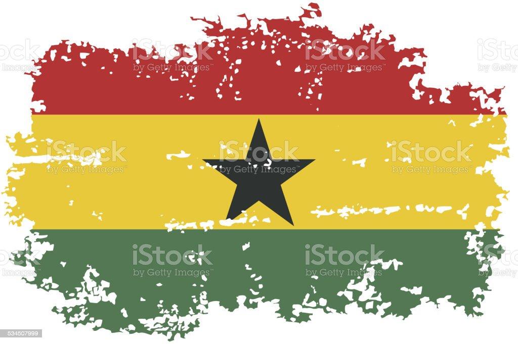 Bandera de grunge de Ghana. Ilustración vectorial. - ilustración de arte vectorial