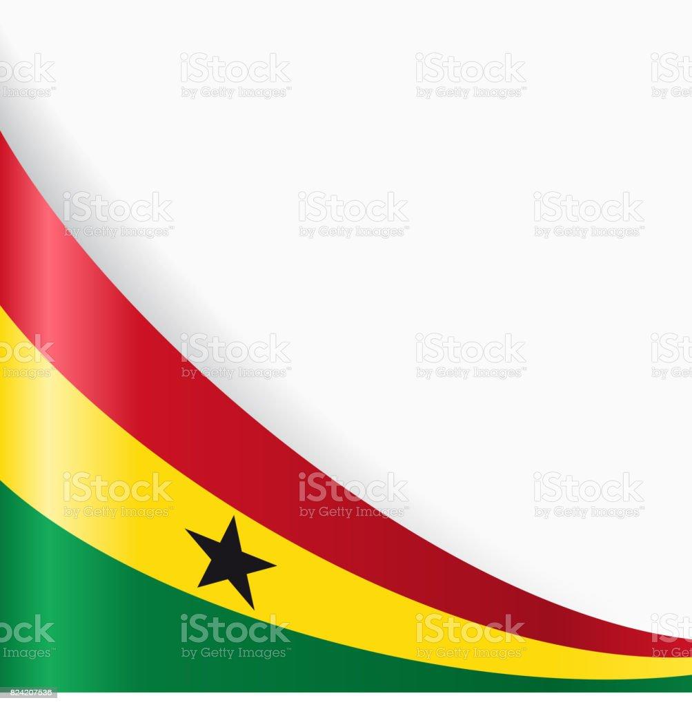 Fondo de bandera Ghanayan. Ilustración de vector. - ilustración de arte vectorial