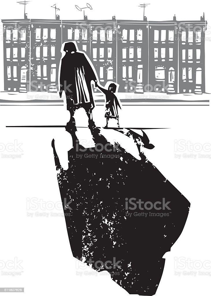 Ghetto Family vector art illustration