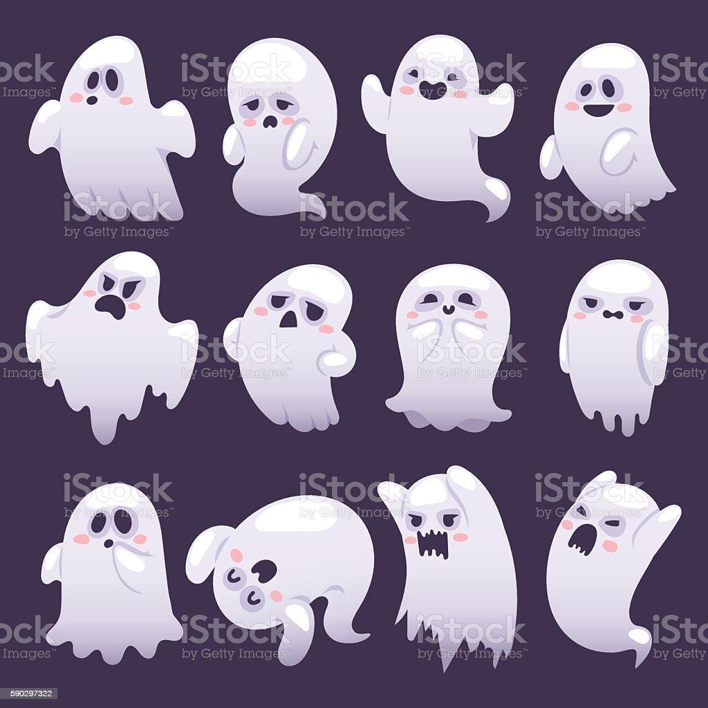Ghost character vector characters. ghost character vector characters — стоковая векторная графика и другие изображения на тему Антропоморфный смайлик Стоковая фотография