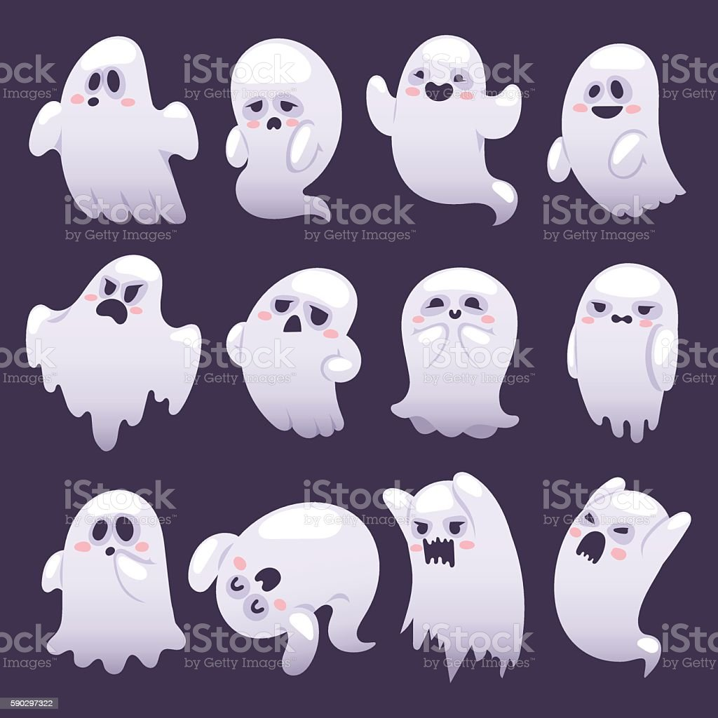 Ghost character vector characters. vector art illustration
