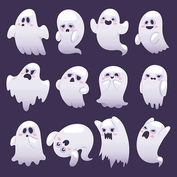 bildbanksillustrationer, clip art samt tecknat material och ikoner med ghost character vector characters. - spöke