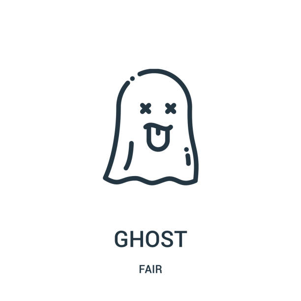 ghost icon vector from fair collection. Thin line ghost outline icon vector illustration. Linear symbol for use on web and mobile apps, logo, print media. ghost icon vector from fair collection. Thin line ghost outline icon vector illustration. Linear symbol for use on web and mobile apps, logo, print media. ghost icon stock illustrations