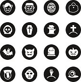 Ghost Icons - Black Circle Series