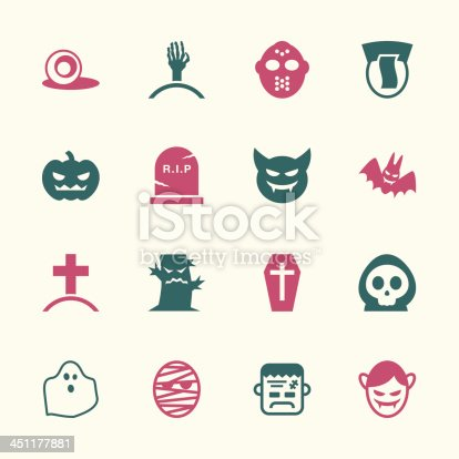 Ghost Icons Color Series Vector EPS10 File.