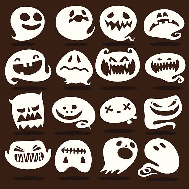 Ghost icons vector art illustration