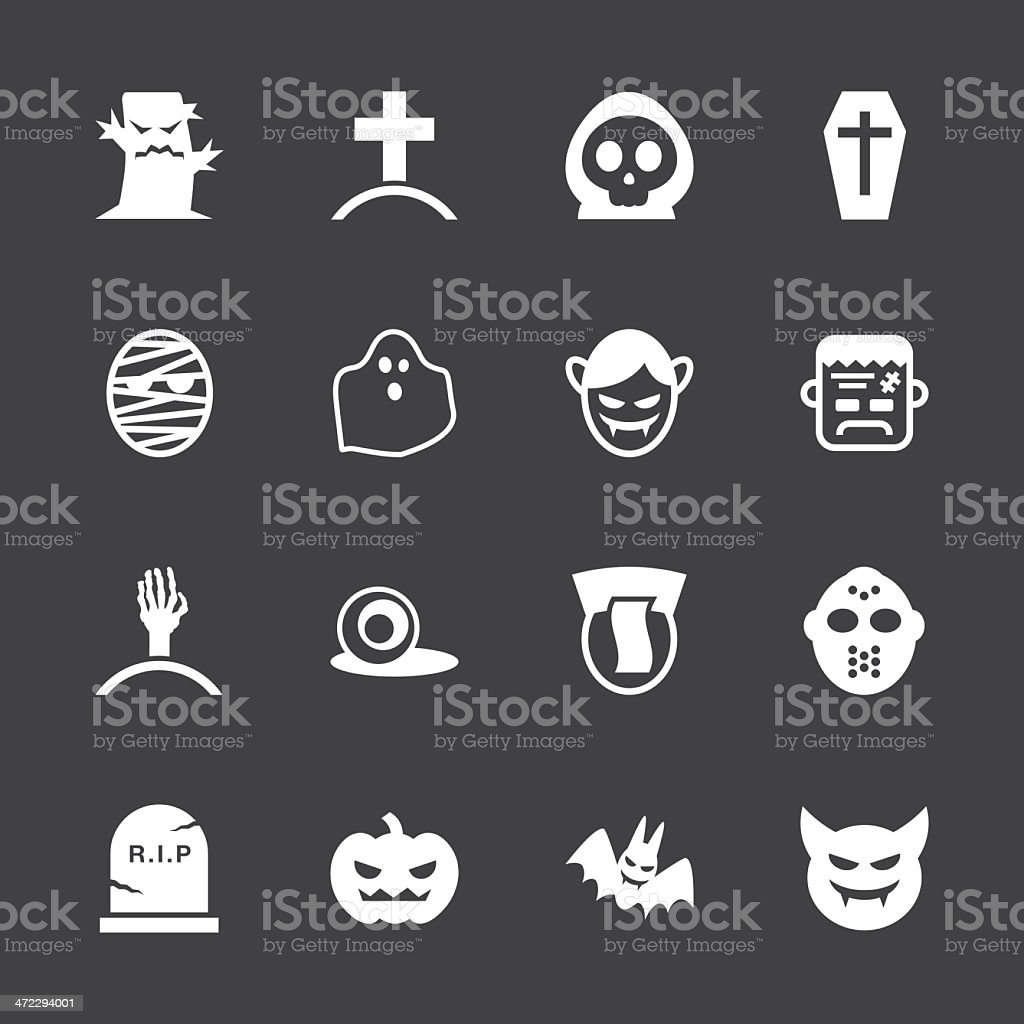 Ghost Icons - White Series | EPS10 royalty-free stock vector art