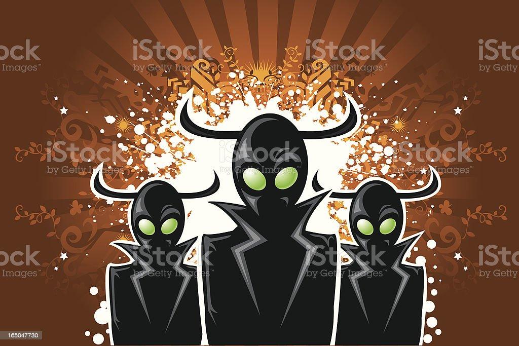 ghost or alien royalty-free stock vector art