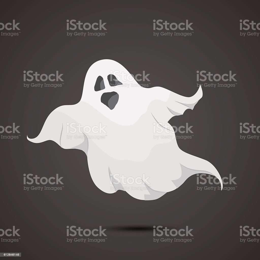 Ghost vector icon. vector art illustration