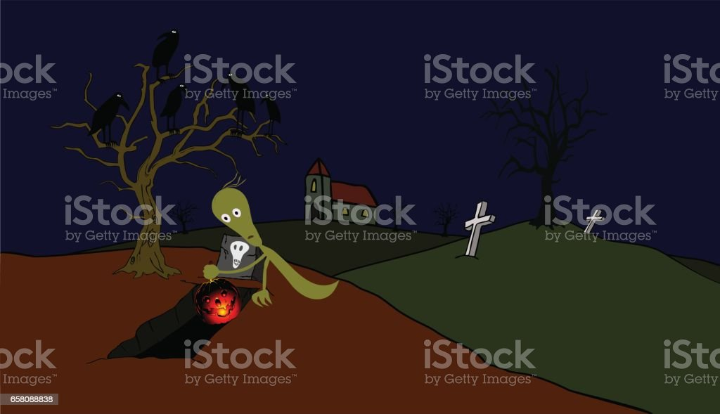 Ghost with luciferous pumpkin royalty-free ghost with luciferous pumpkin stock vector art & more images of appearance