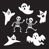 ghosts and skeleton