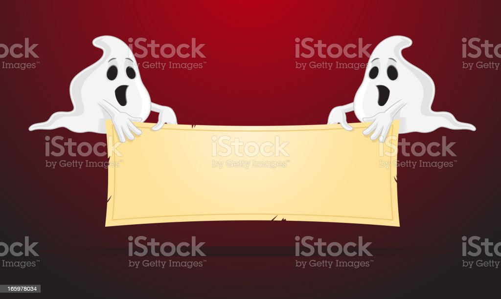 Ghosts Banner royalty-free stock vector art