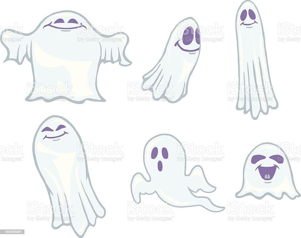 Ghosts - Halloween Cartoon royalty-free ghosts halloween cartoon stock vector art & more images of cartoon