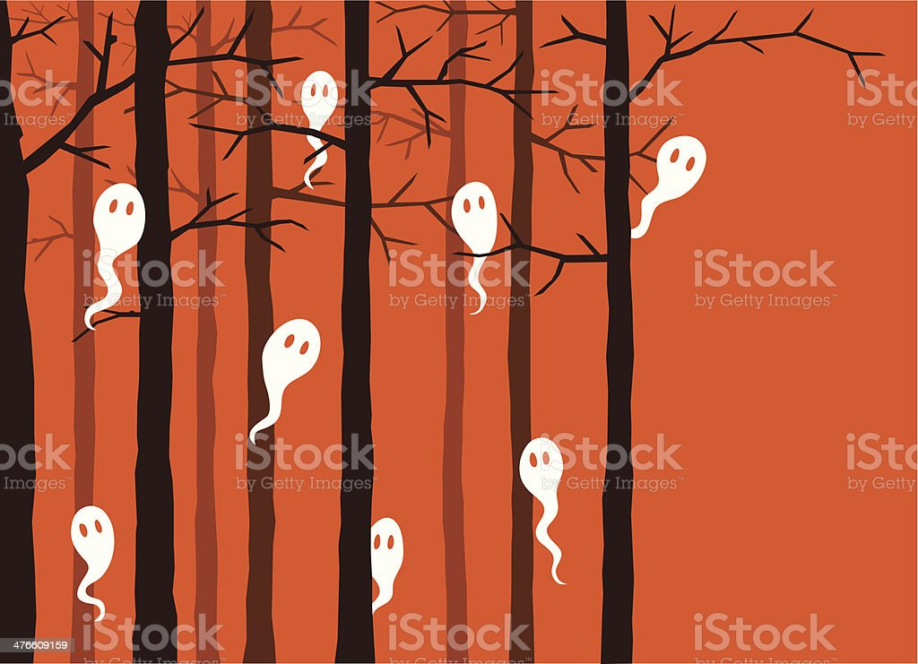 Ghosts in the forest royalty-free ghosts in the forest stock vector art & more images of backgrounds