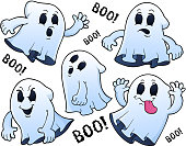 Ghosts thematic set 1 - eps10 vector illustration.