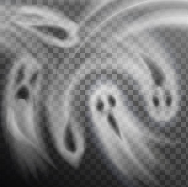 ghosts wektor ilustracja przezroczyste tło - upiorny stock illustrations