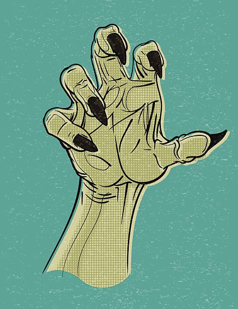 典型手 - 漫画のモンスター点のイラスト素材/クリップアート素材/マンガ素材/アイコン素材