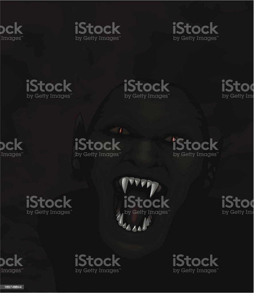 Ghoul vector art illustration