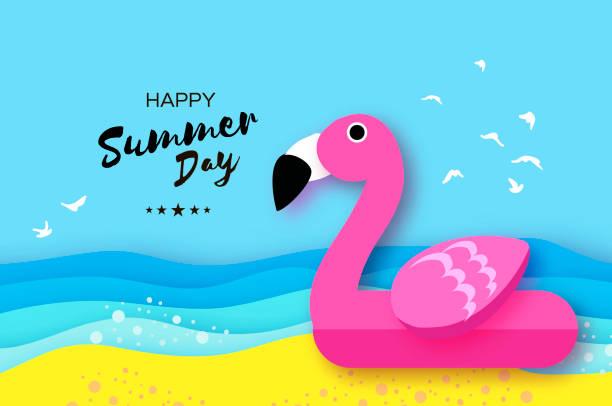 Best Flamingo Float Illustrations Royalty Free Vector