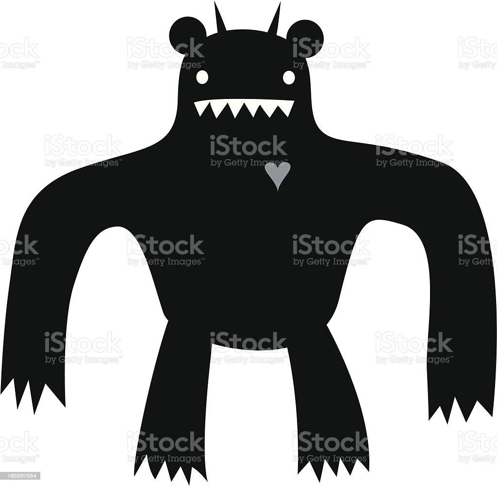giant monster royalty-free stock vector art