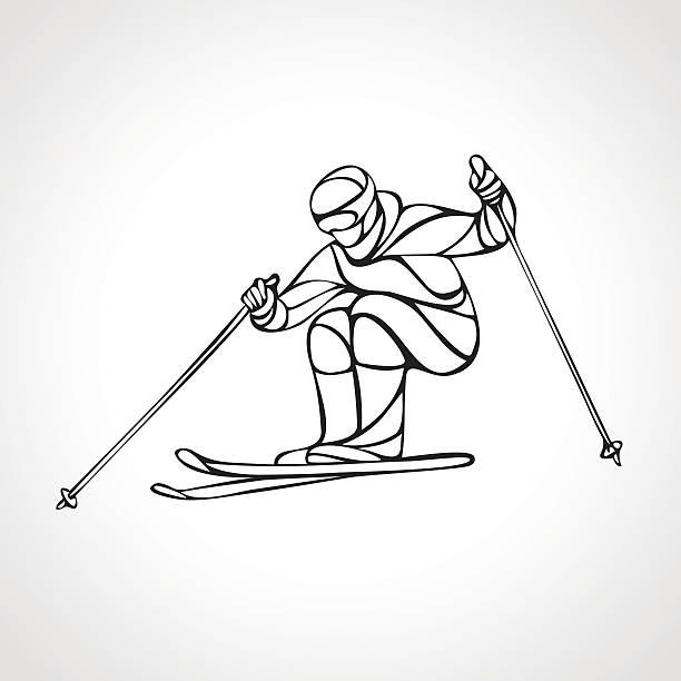 Ski Badge Collection: Mogul Skiing Illustrations, Royalty-Free Vector Graphics