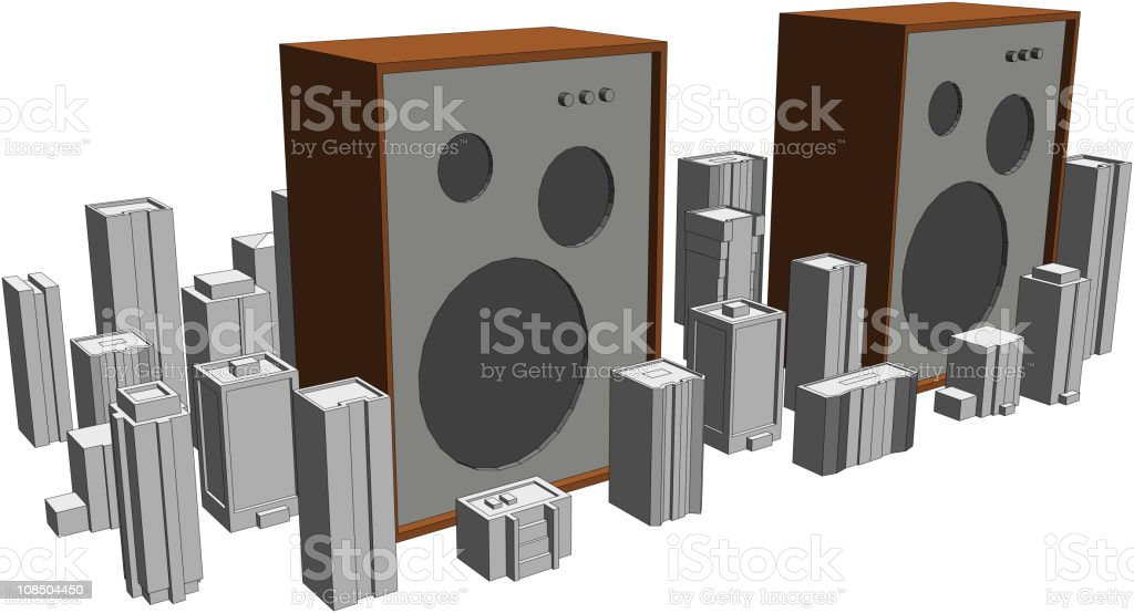 Giant speakers royalty-free giant speakers stock vector art & more images of art