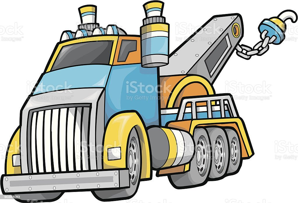 Giant Tow Truck Vector Illustration royalty-free giant tow truck vector illustration stock vector art & more images of art