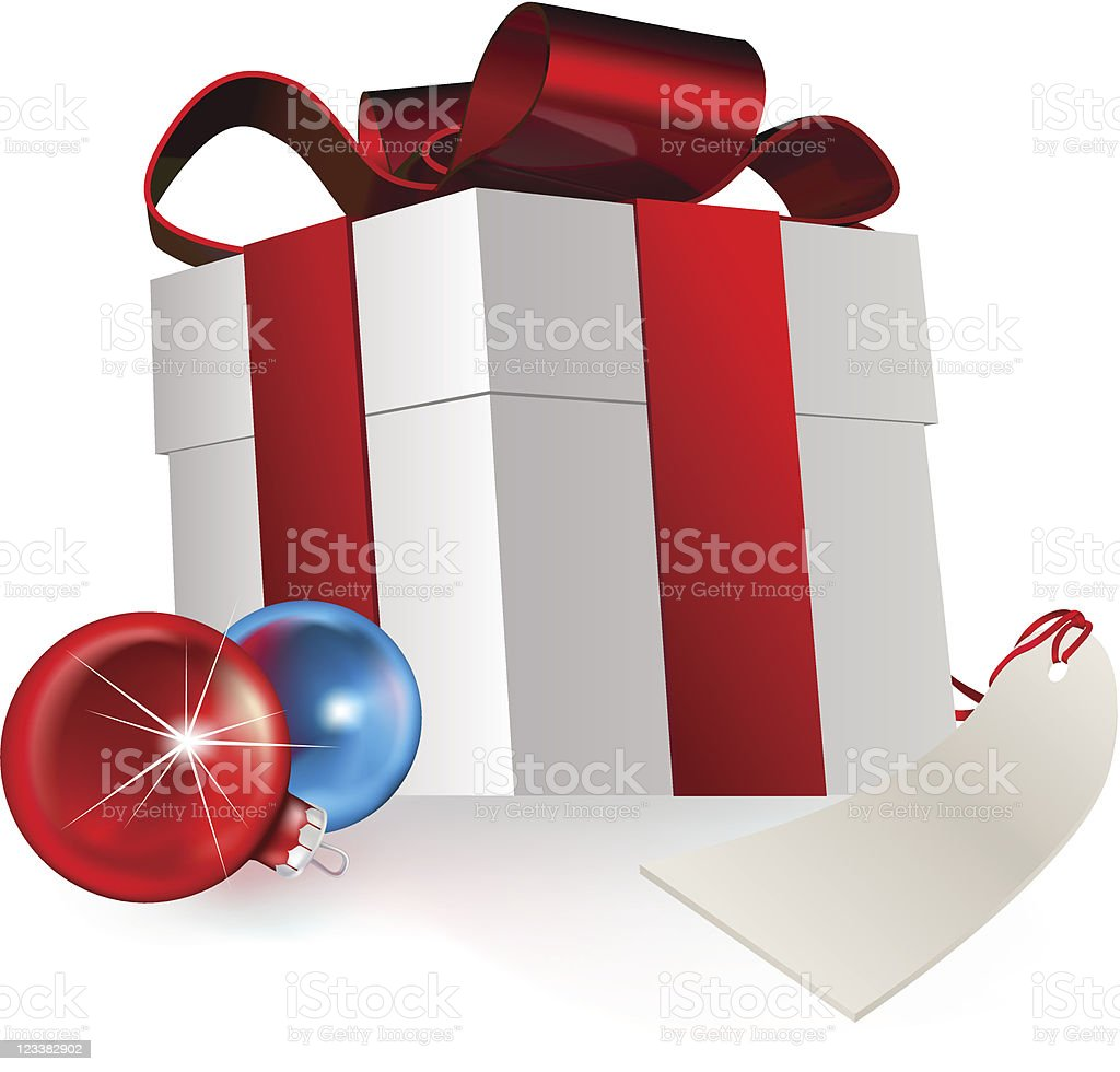 gift and baubles royalty-free stock vector art