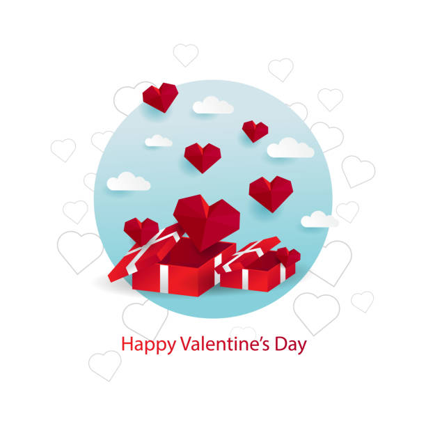 Gift and love for valentine Gift and love for valentines day boyfriend stock illustrations