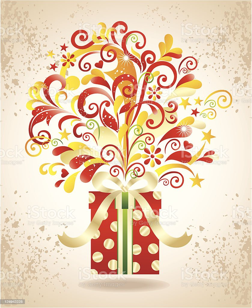 Gift background. royalty-free stock vector art