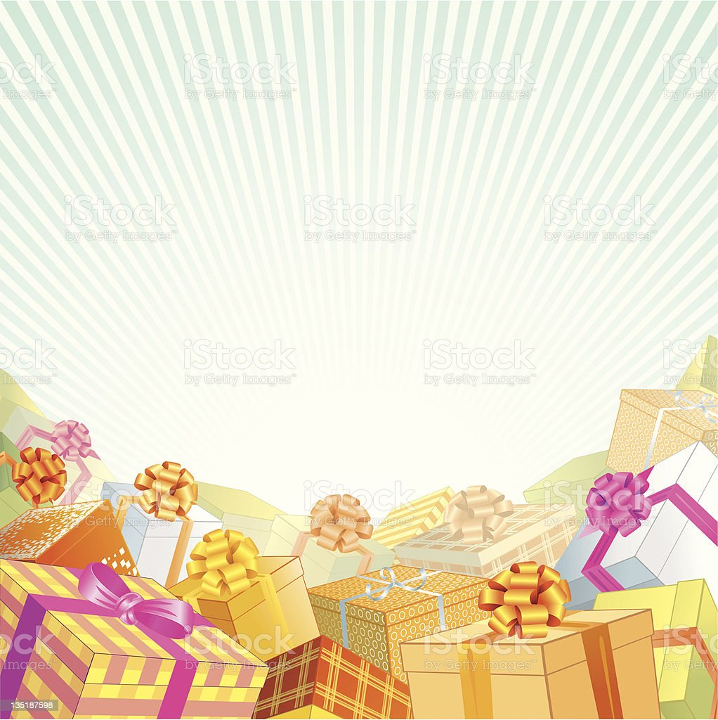 Gift Background Stock Vector Art & More Images Of
