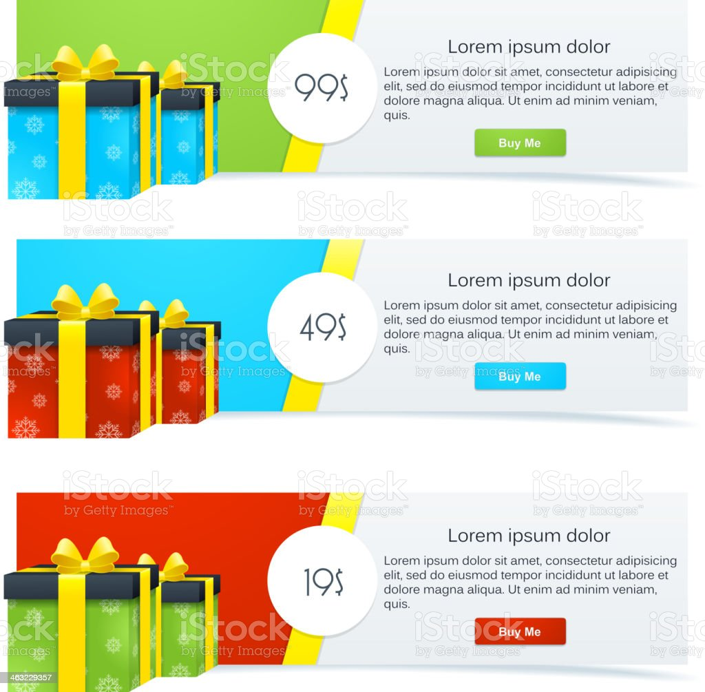 Gift Banners royalty-free stock vector art