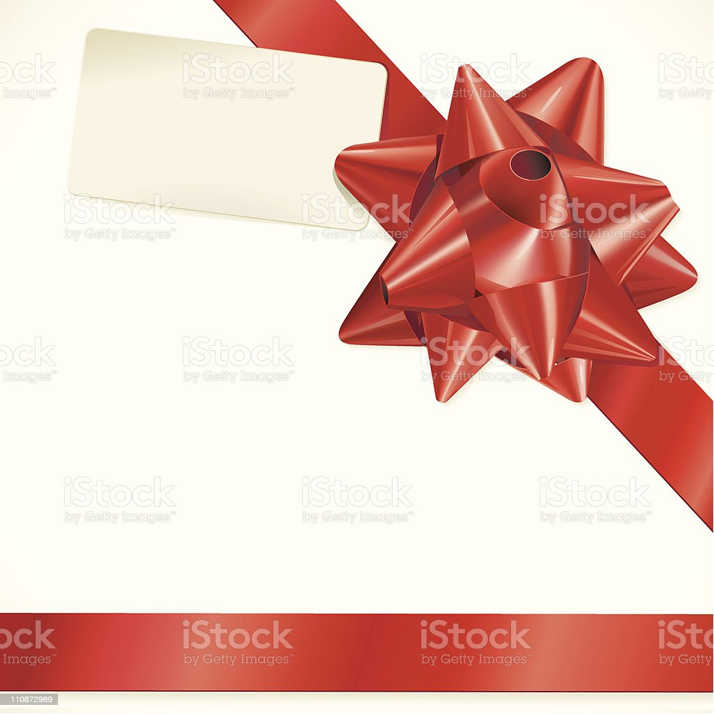 Gift Bow and card royalty-free gift bow and card stock vector art & more images of award ribbon