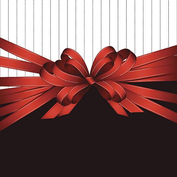 gift bow background vector art illustration