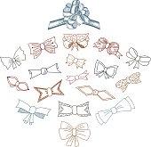 Gift Bows Doodle Set