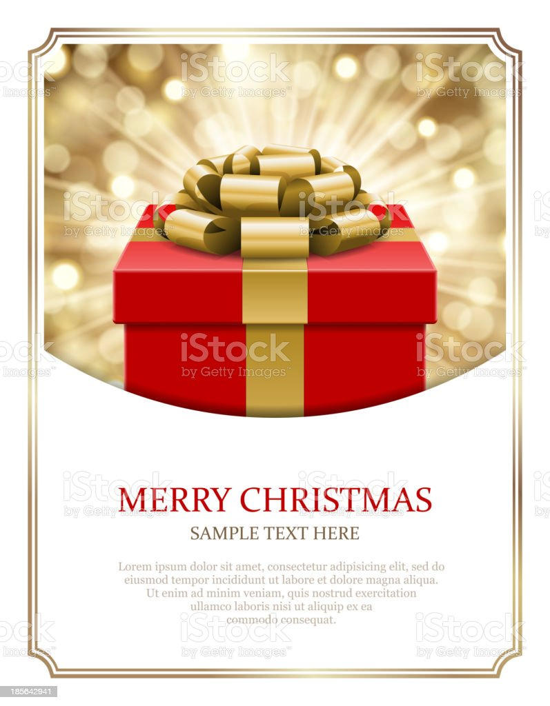 Gift box and light christmas vector background. royalty-free gift box and light christmas vector background stock vector art & more images of backgrounds