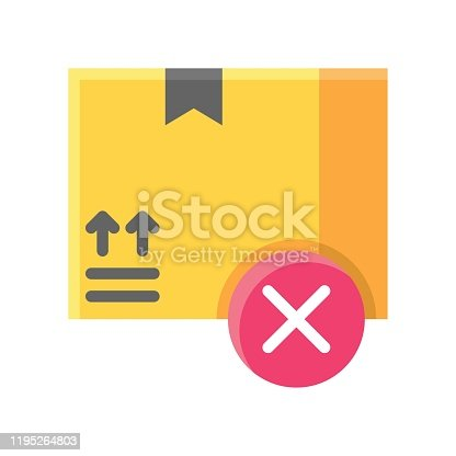 istock gift box and unchecked mark related to black friday vector in flat design 1195264803