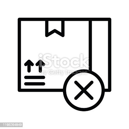 istock gift box and unchecked mark related to black friday vector in lineal style 1195264849