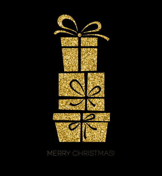 ギフトボックスクリスマスカード - 休日/季節ごとのイベント点のイラスト素材/クリップアート素材/マンガ素材/アイコン素材