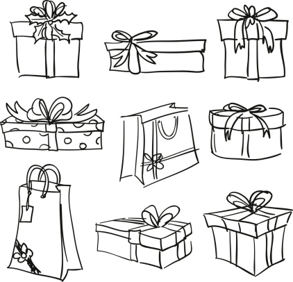 Gift box collection in Black and White