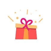 istock Gift Box Icon Flat Design. 1279279687