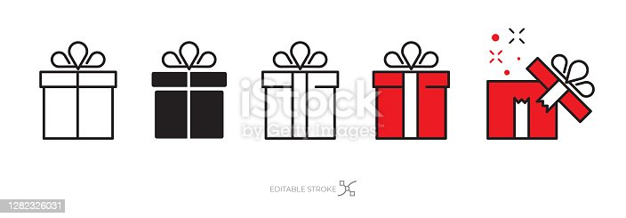 Gift box icon set