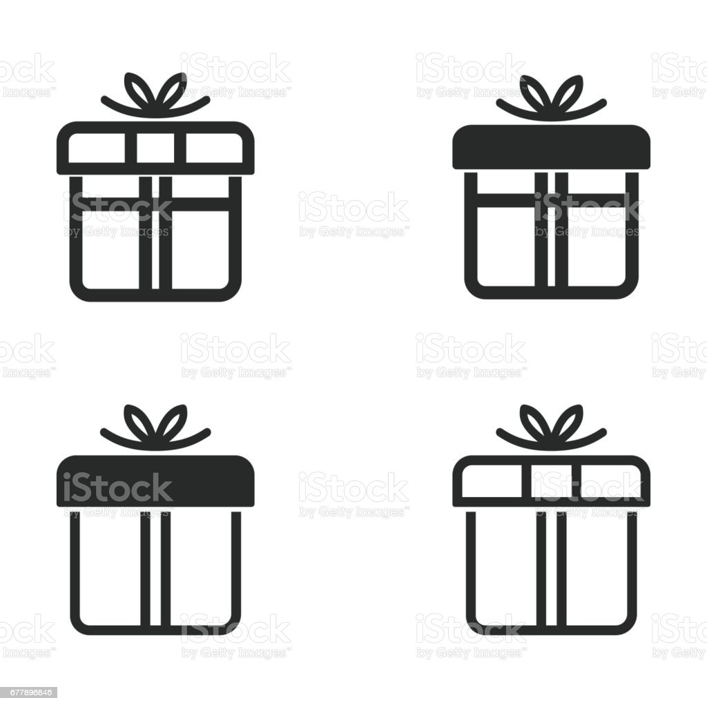 Gift Box icon set. royalty-free gift box icon set stock vector art & more images of anniversary