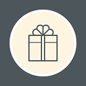 Gift box icon, vector illustration.