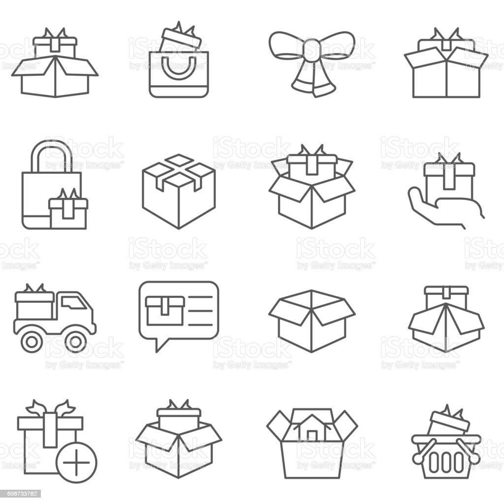 Gift box icons vector art illustration